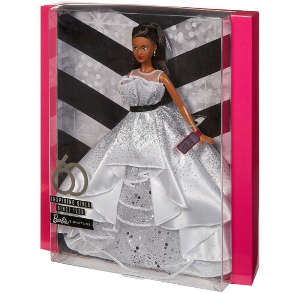 Mattel FXC79 Barbie Puppe im Ballkleid 60. Jubiläum ca. 30 cm Sammlerpuppe