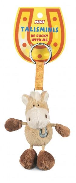 Nici 33686 Schlüsselanhänger Pferd beige 7cm Talisminis Plüsch