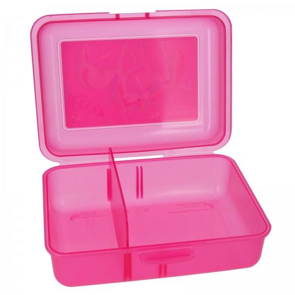 Ylvi & the Minimoomis Brotdose Lunchbox Depesche 8787 Einhörner rosa 17x13x7cm