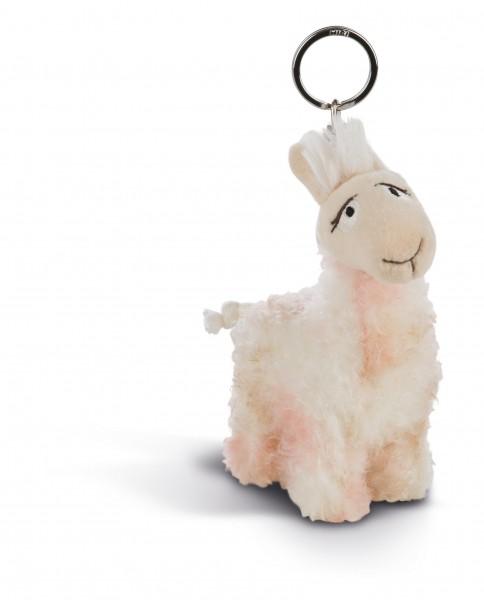 Nici 44390 Schlüsselanhänger geflecktes Lama Flokatina ca 10cm Plüsch