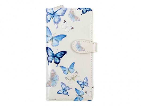 bb Klostermann Langbörse Geldbeutel Geldbörse 50134 Schmetterlinge weiß