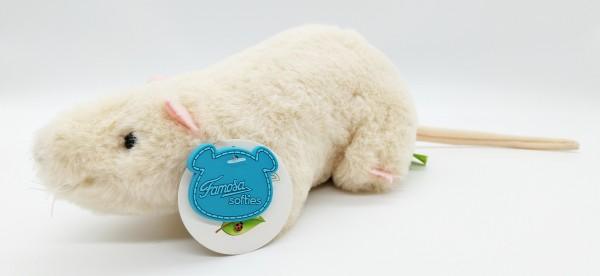 Famosa Plüsch Ratte beige ca. 22cm (ohne Schwanz) Kuscheltier 0+