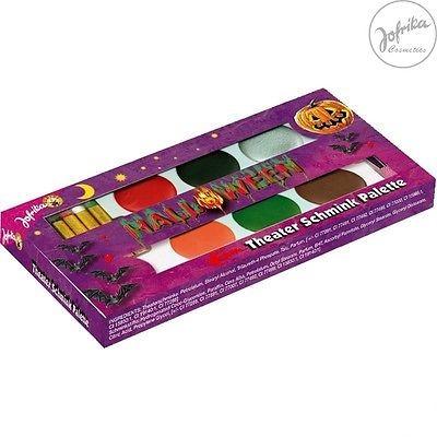 Jofrika 749816 Theater Schminkpalette Halloween Theaterschminke + Stifte Set