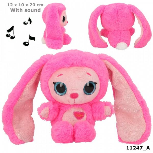 Depesche 11247 Ylvi & Minimoomis Cooco 20cm Pink mit Sound Plüsch