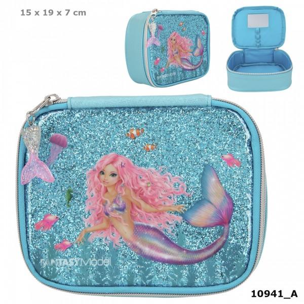 Depesche 10941 Fantasy Model Kosmetiktasche Mäppchen Meerjungfrau Mermaid