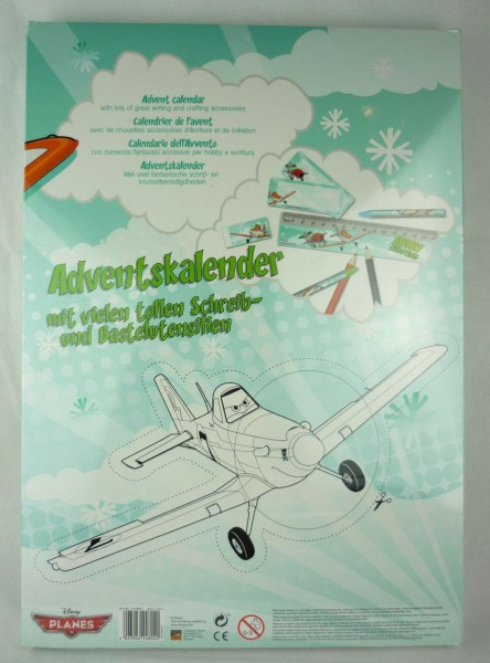 Adventskalender Disney Planes mit Schreib- und Bastelutensilien