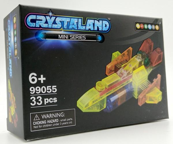 N-Brix Crystaland Mini Series Bausteine - 99055 Flugzeug Jet (33 Teile)