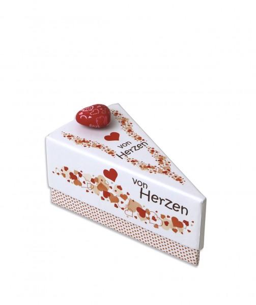 Geschenkschachtel Tortenstück - Von Herzen 1279