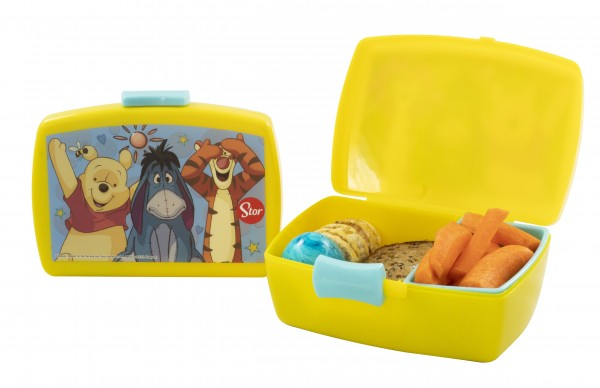 p:os 68931088 Winnie Pooh Brotdose Premium mit Einsatz mit Esel +Tigger