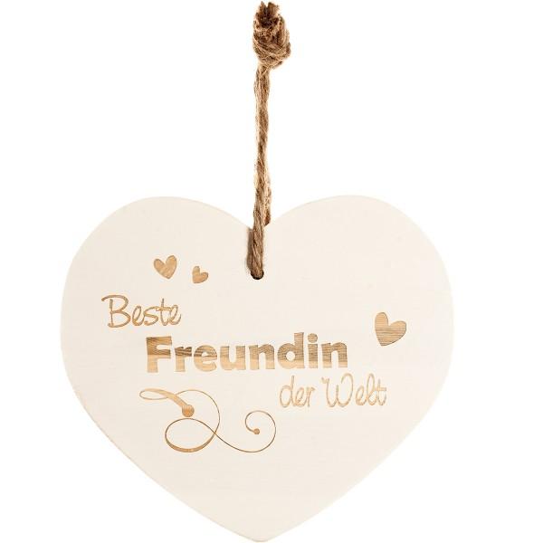 """Vintage-Herz aus Holz """"Beste Freundin der Welt"""" 24020"""