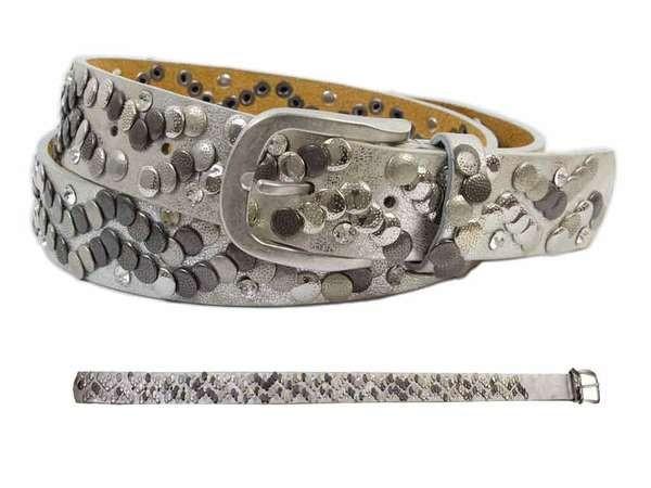bb Klostermann Damengürtel mit Nieten silber ca. 90cm 22084