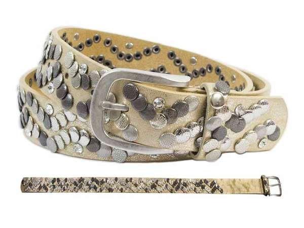 bb Klostermann Damengürtel mit Nieten gold ca. 90cm 22079