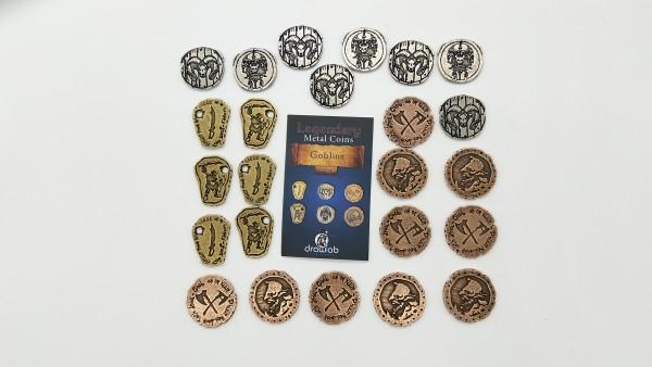 Legendary Metal Coin Set Goblin - Metall Münzen Goblin (24 Stück)