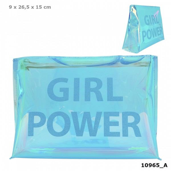 Depesche 10965 TOPModel Kosmetiktasche HOLO Türkis Girl Power
