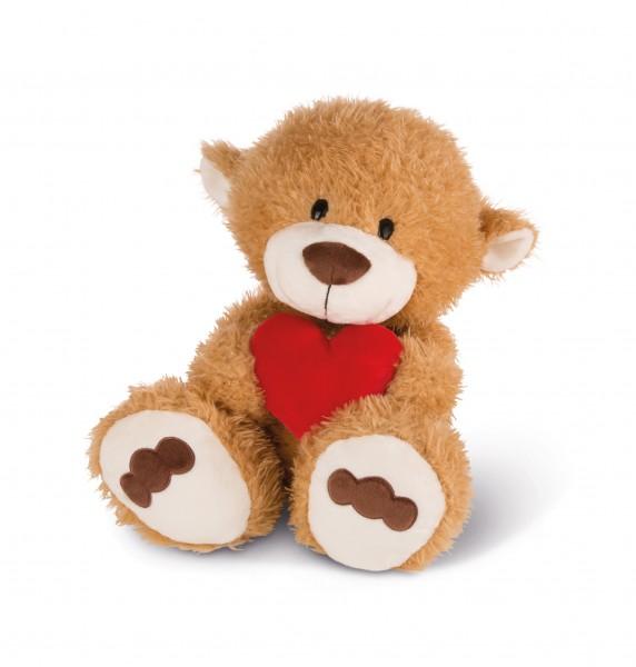 Nici 42610 LOVE Bär hellbraun mit rotem Herz ca 50cm Plüsch Kuscheltier