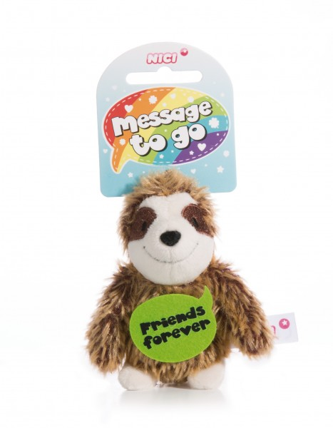 Nici 44856 Message to Go Loop 8cm Faultier – Friends forever