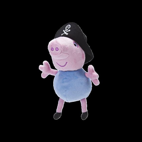 Peppa Pig Wutz George Schorsch als Pirat mit Sound 15cm Plüsch Jazwares 96576