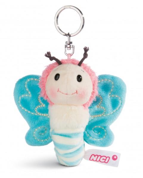 Nici 44931 Schlüsselanhänger Schmetterling ca 10cm Plüsch Hello Spring - blau