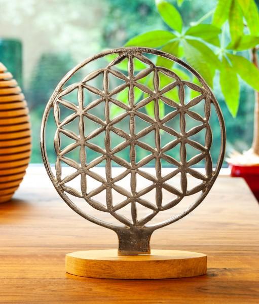 Berk EN-404 Ambiente-Element Blume des Lebens mit Mangoholz ø 20 cm
