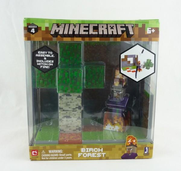 Minecraft Birch Forest Spielset Birkenwald Biom Serie 4 Jazwares 16652