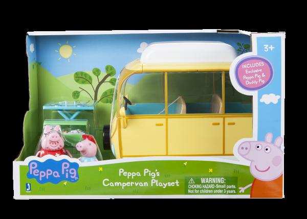 Peppa Pig Peppa's Abenteuer-Wohnmobil + 2 Spielfiguren + Zubehör Jazwares 92625