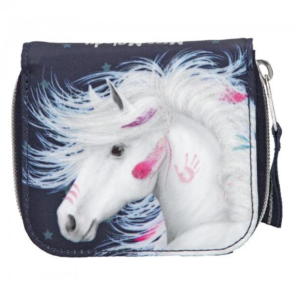 Depesche 10596 weißes Pferd Miss Melody Portemonnaie Geldbeutel blau