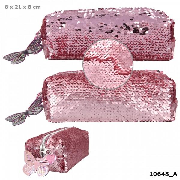 Depesche 10648 Fantasy Model Schlamper Mäppchen Streichpailletten Ballett rosa
