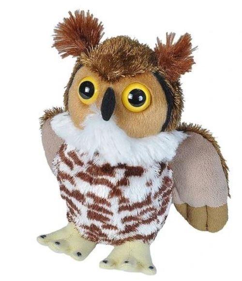 Wild Republic 19461 Hug´ems Great Horned Owl Virginia-Uhu ca 20cm Plüsch