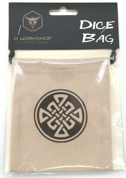 Q Workshop Celtic Dice Bag Würfelbeutel Beige BCEL101