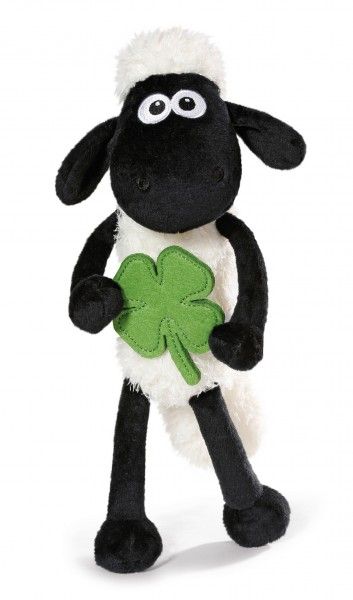 Nici 40666 Shaun das Schaf mit Glücks - Kleeblatt ca 25cm Schlenker Plüsch