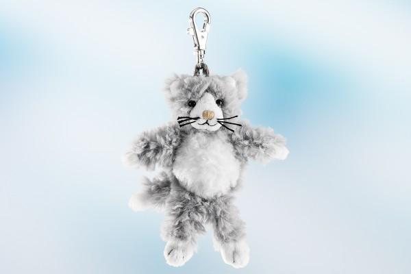 Schaffer 0218 Schlüsselanhänger Katze Silver grau ca 12cm Plüsch