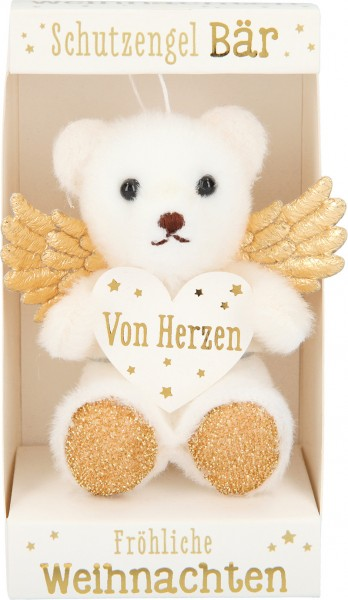 Depesche 10256 weihnachtlicher Schutzengelbär in der Box - Von Herzen