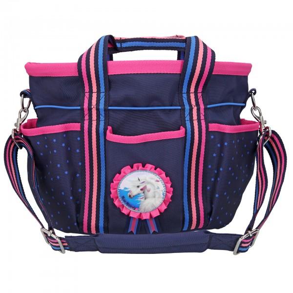 Depesche 10597 Pferd Miss Melody Umhängetasche blau Stalltasche Reittasche