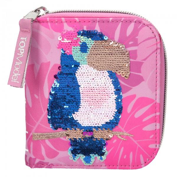TOPModel Portemonnaie Streichpaillletten Tropical pink Tukan 10550