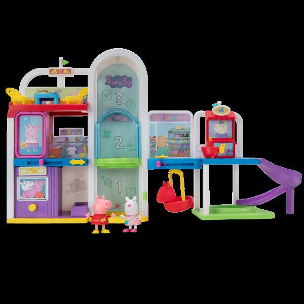 Peppa Pig Einkaufsparadies mit 10 Teilen, Aufzug, Figuren und mehr PEP0701