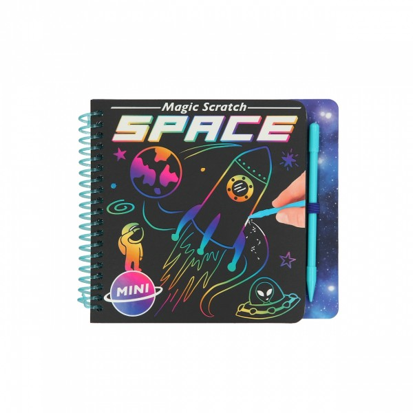 Depesche 11404 Mini Magic Srcatch Book Space Kratzbilder Buch Weltraum