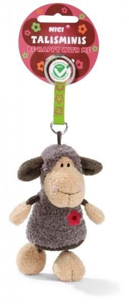 Nici 36678 Schlüsselanhänger Schaf Jolly Lucy 7cm Talisminis Plüsch