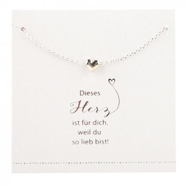 Halskette mit Herz-Anhänger ...weil du so lieb bist... Depesche 8699