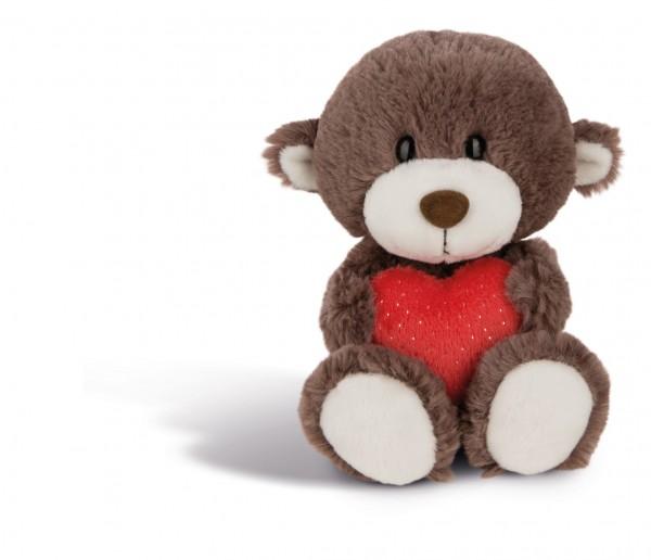Nici 44426 Love Bär Bruder brauer Bär mit rotem Herz ca 20cm Plüsch