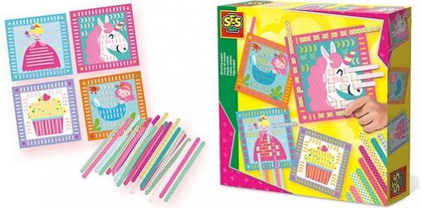 SES Creative 14101 Papier Weben Kreativset mit Vordrucken Geschenkset