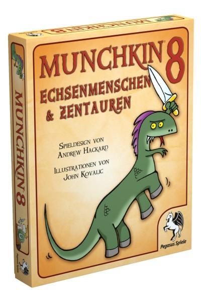 Munchkin 8 Echsenmenschen & Zentauren Kartenspiel - Erweiterung Pegasus Spiele