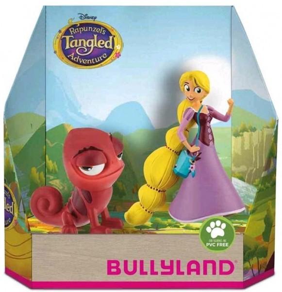 Bullyland 13463 Tangled Rapunzel und Pascal rot Spielset Figurenset