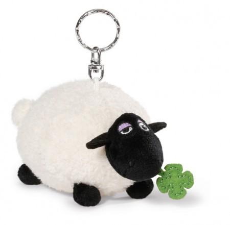 Nici Schlüsselanhänger 40664 Shaun das Schaf Shirley mit Kleeblatt Keyholder