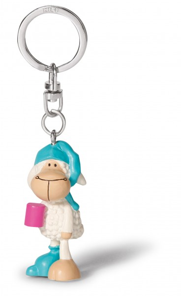 Nici 36934 keyfriends Schlüsselanhänger Schaf Jolly Sleepy PVC-Figur 5cm