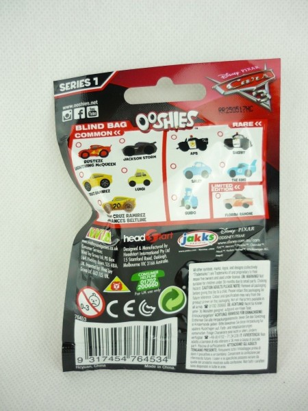 Disney Pixar Cars 3 Sammeltüte Ooshies Bleistifttopper Blind Bag Serie 1