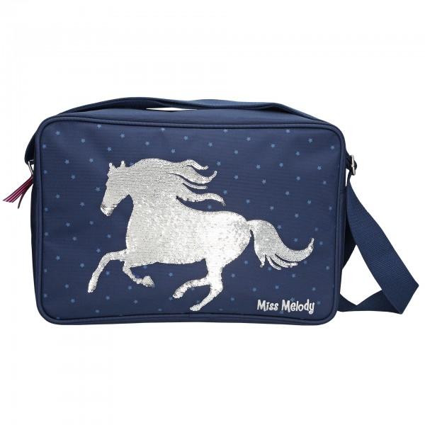 Depesche 10279 Pferd Miss Melody Umhängetasche blau Streichpailletten