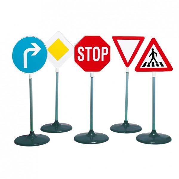 Verkehrszeichenset mit 5 Stück inkl. Standfuß ca. 72cm hoch 2980