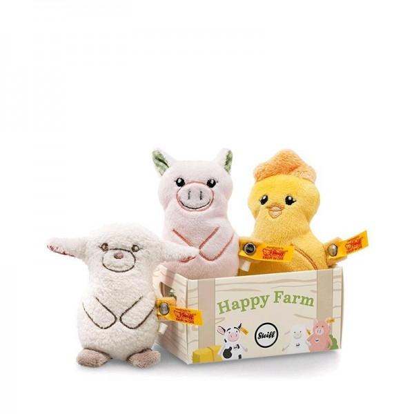 Steiff 240973 Happy Farm Mini Band Geschenkset Plüschtiere ca 10cm