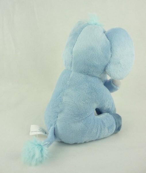 blauer Elefant mit Comic-Augen Plüsch Kuscheltier ca 20cm