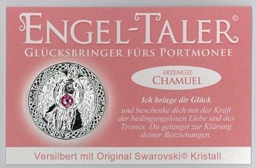 Berk Esoterik Engeltaler versilbert mit EngelBotschaft - Erzengel Chamuel
